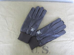 US Army Airforce Pilot Gloves A-10 USAAF Flight Gloves Leather Gloves Size M