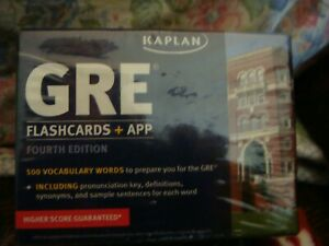Details about GRE Vocabulary Flashcards + App (Kaplan Test Prep) [Cards]