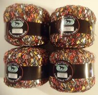4 Balls Metallic beautiful Ladder Trellis Yarn- B105 - Dark Horse Yarns >