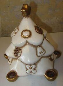 Addobbi Natalizi Thun Fuori Produzione.Thun Abete Albero Di Natale Bianco 23cm Fuori Catalogo Ceramica Da Collezione Ebay