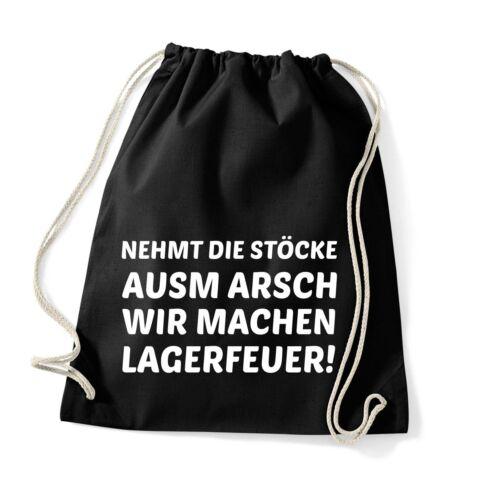 Stöcke ausm Arsch Turnbeutel Rucksack Sportbeutel Jute Beutel Tasche