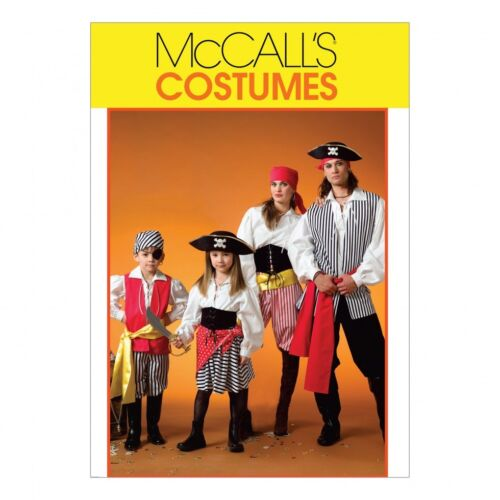 McCalls Family Unisex Sewing Pattern 4952 Pirate Costumes McCalls-4952-M