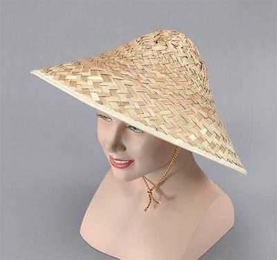 Coolie Cappello Di Paglia, Cinese Costume Accessorio-mostra Il Titolo Originale