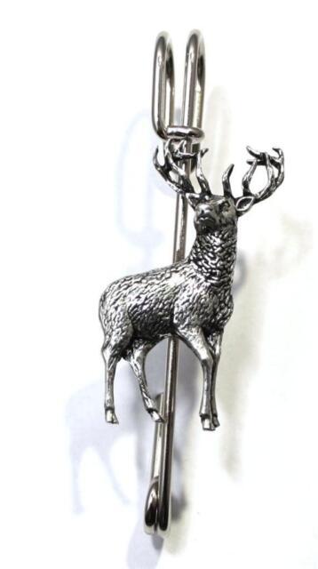 "Stag Kilt Pin (Scarf Brooch), Handmade, (3"") 7.5 cm  (a31)"