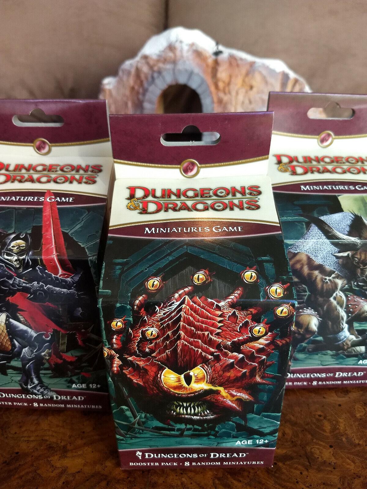 D&D miniaturas mazmorras de miedo Booster. nuevo En Caja  Dungeons & Dragons miniaturas Pathfinder Dungeons & Dragons