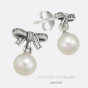 0248851b1 Image is loading Authentic-Pandora-Silver-Delicate-Sentiments-Pearl-CZ-Stud-