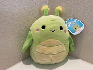 "Squishmallow 8"" Pilar Grasshopper Soft Green Plush FREE SHIP 734689410590"