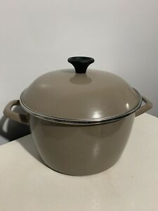 6-3-QT-Metalac-1959-Enamel-Cookware-Pot-Vintage-RARE