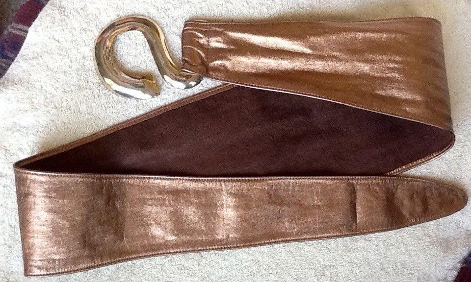 Vintage - robin kahn kupfer ledergrtel
