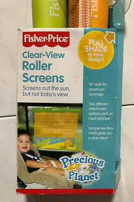 Other Baby Gear Obliging Fisher Price Clear-view Roller Screens Car Window Sun Shade For Baby
