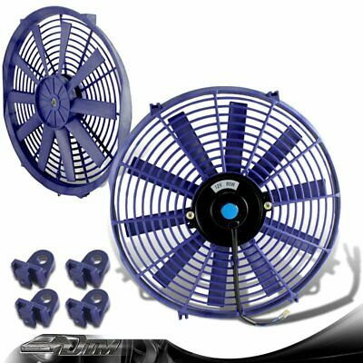 """2x Red 14/"""" High Performance Electric Cooling Pull Slim Radiator Fan For Acura"""
