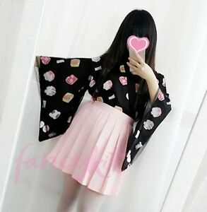 cfceeed2c Image is loading Women-Kawaii-Wagashi-Kimono-Yukata-Jacket-Japanese-Summer-