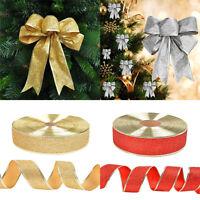2M Xmas Tree Ornament Ribbon Home Party Holiday Christmas Bow Bowknot Decoration