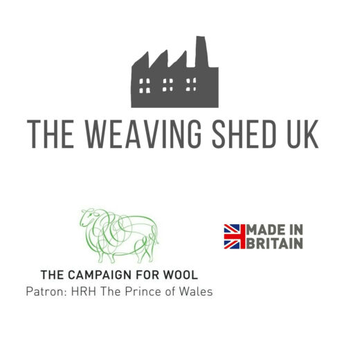 The Weaving Shed UK Wool Blanket Hickory Brown Herringbone Throw