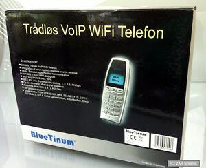 Bluetinum-VoIP-WiFi-WLAN-telefono-bt-wfp1000-telefono-cellulare-SIP-WEP-WPA-difettoso-leggere