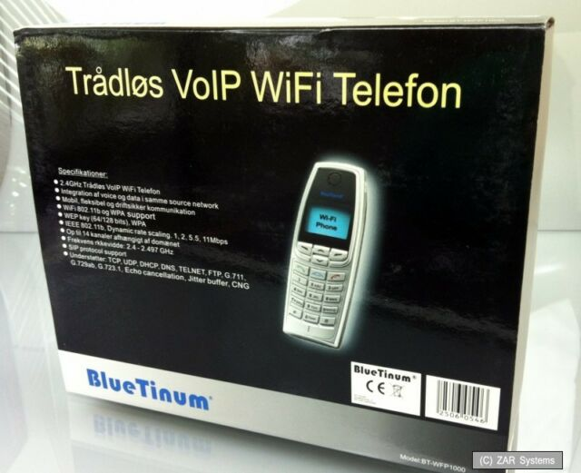 BlueTinum BT-WFP1000 VOIP WiFi Telephone WiFi Phone, Cellphone SIP, WEP, WPA NEW