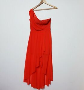 Forever-New-Size-10-Orange-One-Shoulder-Cocktail-Races-Dress