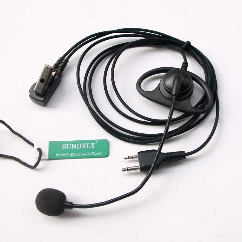 For Midland Radio Over Head Headset//Earpiece Boom Mic VOX GXT250 GXT255 GXT300
