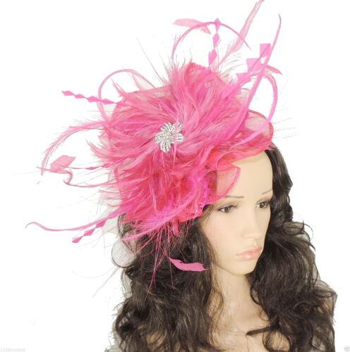 Ladies Medium Sinamay Ascot kentucky Derby Fascinator Hat Headband P6