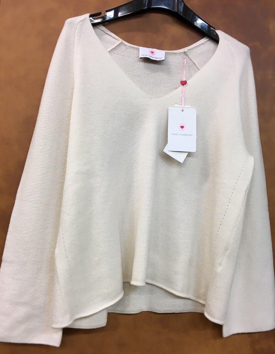 CUORI's questione Donna Kashmir-CREMA Pullover gr 40  neu Sale Sale Sale cd5225