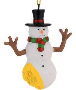 Tree-Buddees-Funny-Pee-on-Snowman-Christmas-Ornament-Xmas-Santa-Claus-Holiday
