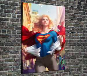 HD Printed Oil Painting Home Decor Art on Canvas Supergirl 12x18inch Unframed