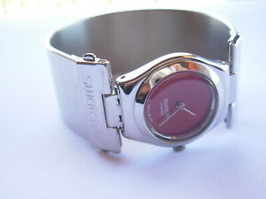 SWATCH-LADY-IRONY-PASSION-D-039-UNE-NUIT-YSS190HB-2005-STAINLESS-STEEL-NEW