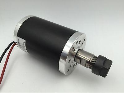 350W Brushed ER16 Spindle Motor Nature Cooled 6000rpm 3.175mm Collet CNC