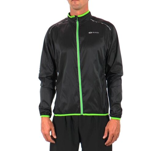 Sugoi Helium Ultra Lightweight Cycling Jacket L XL Sizes S Black Green