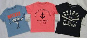 NEW-Carters-Baby-Boy-Tee-Shirt-Baseball-Champs-Ahoy-Matey-Rocket-Arm-Choose