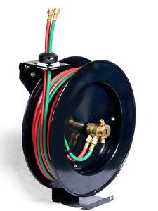 oxy acetylene manual rewind hose reel