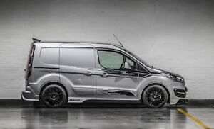 Transit-Connect-MS-RT-Style-Van-Decals-Side-Stripes-ANY-COLOUR