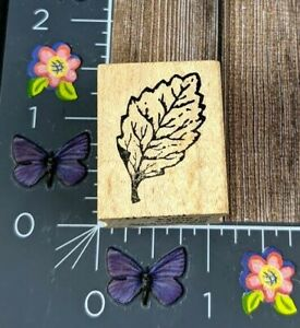 Serendipity Stamps Leaf Rubber Stamp 2004 Detailed Tree Plant Wood #B39