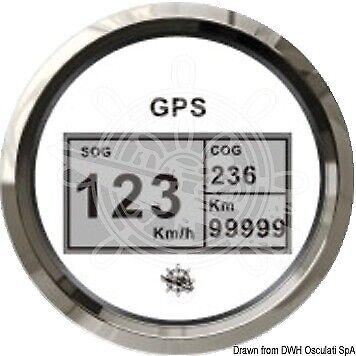 Log con bussola e totalizzatore GPS bianco//lucida