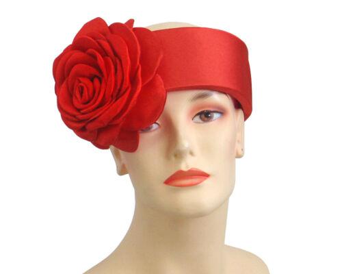 077 Cream Black Red Women/'s Church Ring Hat
