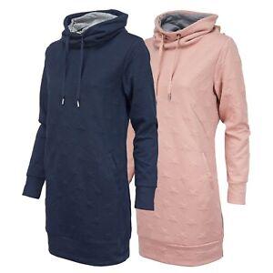 ONLY-Damen-Long-Sweatshirt-Sweatkleid-Star-Pullover-Sweater-Kleid-mit-Sternen