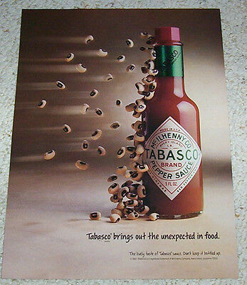 1992 TOBASCO Sauce Onion Rings Brings out the Unexpected in Food  VINTAGE AD