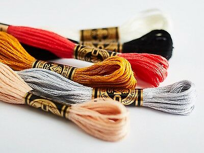 100 Neu Anchor Solid Stich Stränge Baumwolle Stickgarn Seide Anspruchsvolle Set