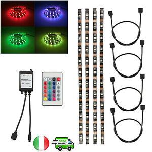 LED-TV-Retroilluminazione-Striscia-Kit-4x40cm-per-HDTV-con-24-Chiavi-Telecomando