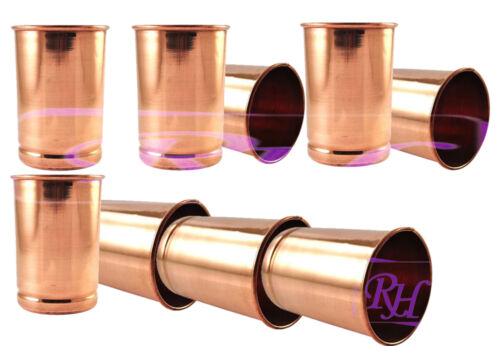 NEW Pure Copper Plain Drinking Water Glass Tumbler Serving Water Pot Drink-ware