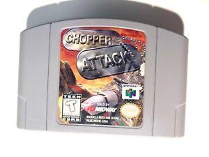 Chopper ATTACK NINTENDO 64 N64 juego probado + trabajo & Auténtico!