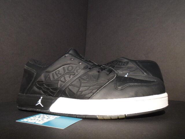 2002 Nike Air Jordan I BLACK NU' RETRO 1 LOW BLACK I WHITE GREY OG AJKO 302371-012 11.5 a42c29
