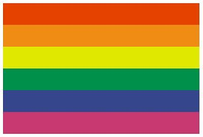 GAY PRIDE Flag Sticker MADE IN THE USA F184 CHOOSE SIZE FROM DROPDOWN
