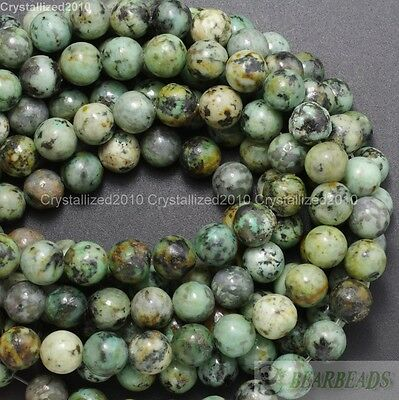 Natural African Turquoise Gemstone Round Beads Spacer 16'' 4mm 6mm 8mm 10mm Pick