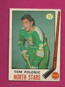 1969-70-OPC-199-NORTH-STARS-TOM-POLONIC-ROOKIE-GOOD-CARD-INV-9220