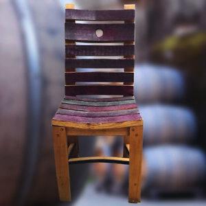 Détails sur Style Rustique Recyclé en chêne massif Wine Barrel Stave chaise  | mobilier de jardin- afficher le titre d\'origine