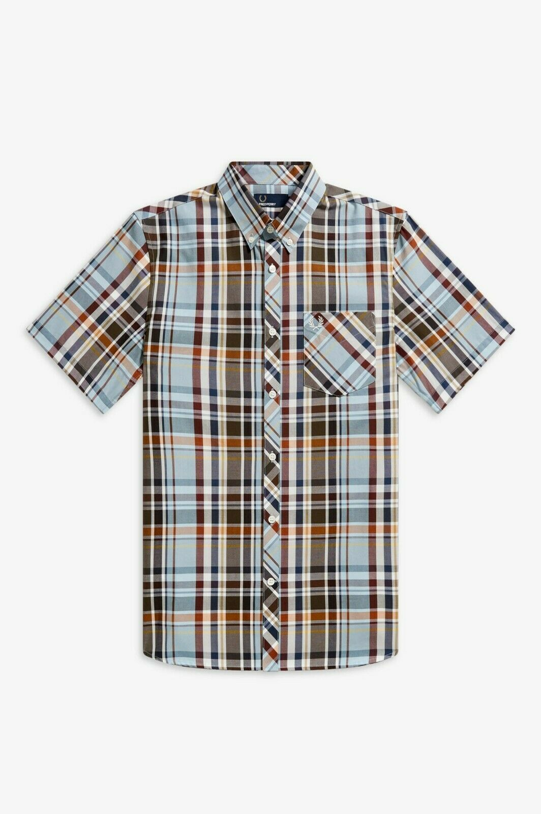 Frot Perry Sky Madras Check Shirt - M5561 444