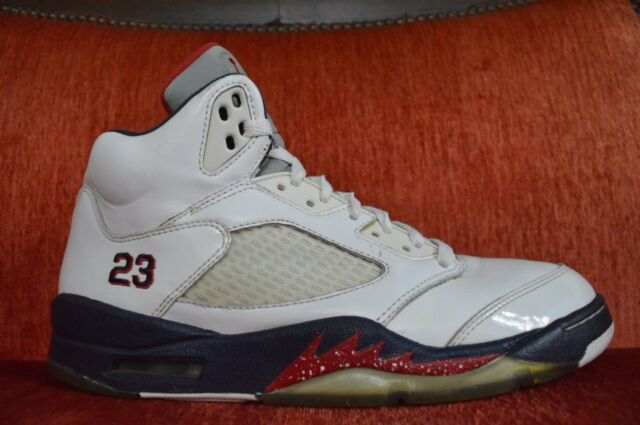 d27226b2f04f29 Nike Air Jordan 5 V Retro Independence Day Size 9.5 USA Olympic 136027 103