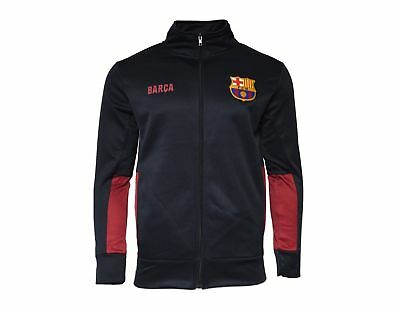 Fc Barcelona Jacket Fleece Youth Soccer Navy Zip up Hoodie Lionel Messi 10