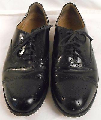BASS Mens Shoes Leather Size 9 D Dress Black Oxfords Lace Up